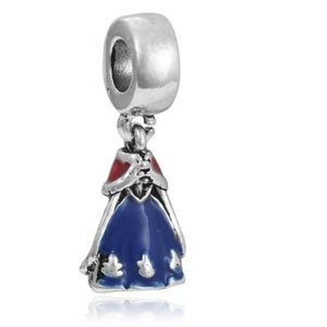 Jewelry - 925 Sterling Silver Snow White Dress Charm Bead